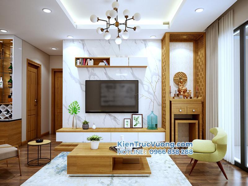 Thiết kế thi công chung cư 114m2
