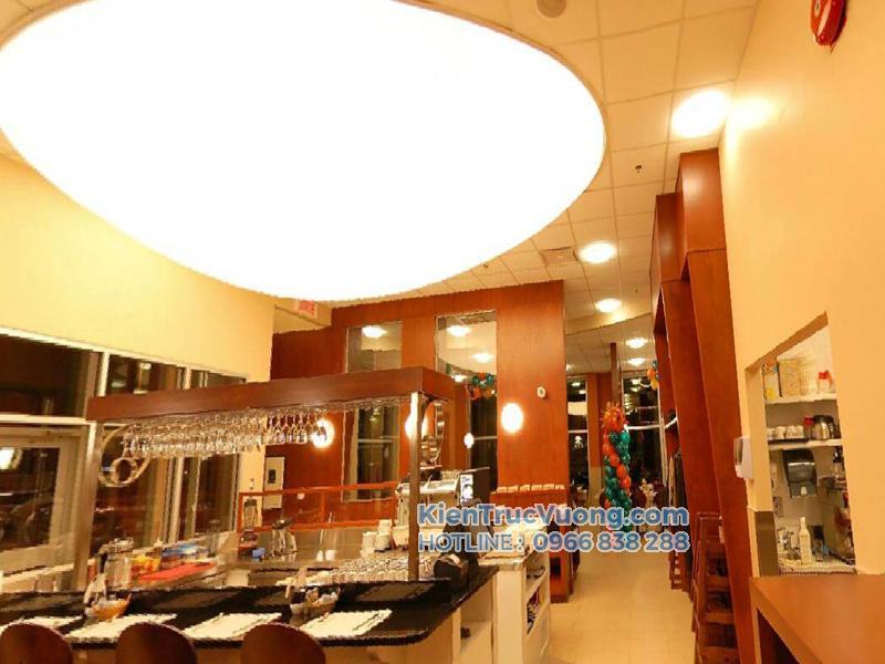 thiết kế thi công nhà hàng showroom
