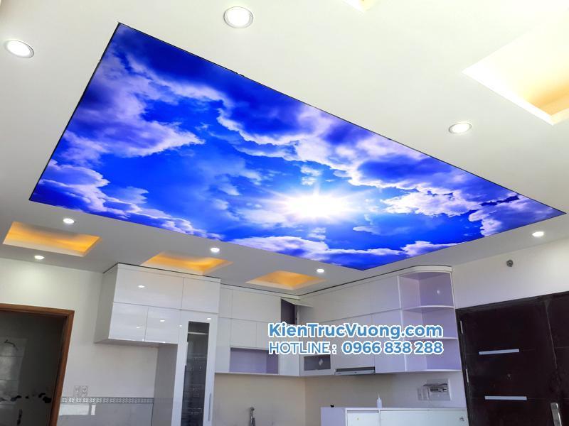 Thiết kế thi công trần xuyên sáng bầu trời